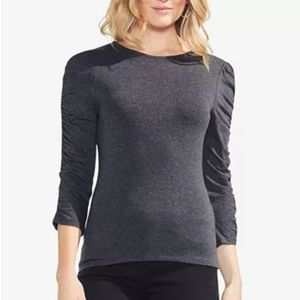 Vince Camuto Ruched Long Sleeve Top L